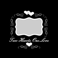 Two Hearts One Love - 12x12 Overlay