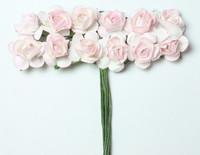 "Mulberry Paper Flowers (12 Flowers) - 3/8"" Pink"