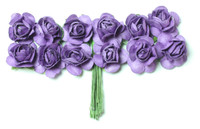 "Mulberry Paper Flowers (12 Flowers) - 3/8"" Purple"