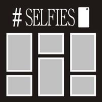 Selfies - 12x12 Overlay
