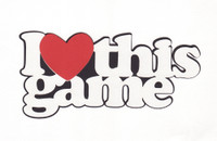 I Heart this game - Laser Die Cut 3 Color