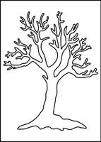 Bare Tree Stencil - 8x10