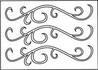 Finesse Swirls Stencil - 8x10