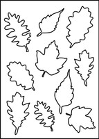 Falling Leaves Stencil 1