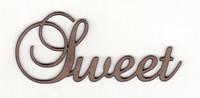 Sweet - Fancy Chipboard Word
