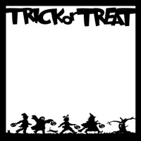 Trick or Treat Halloween - 12x12 Overlay
