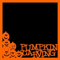 Pumpkin Carving Halloween - 12x12 Overlay