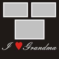 "I ""Heart"" Grandma - 12x12 Overlay"