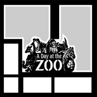 A Day at the Zoo - 12x12 Overlay