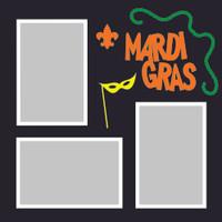 Mardi Gras - 12x12 Overlay
