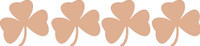 Shamrock Chipboard Embelishments - Pack of 4