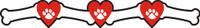 Dog Bones with Hearts Border - Laser Cut