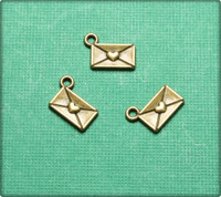 Love Letter Charm - Antique Brass