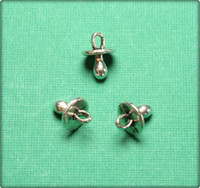 Pacifier Charm - Antique Silver