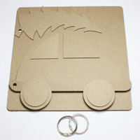 Car with Christmas Tree - Chipboard Album
