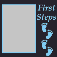 First Steps - Blue - 6x6 Overlay