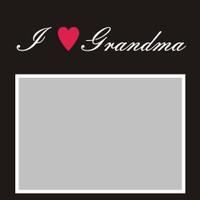 I Heart Grandma - 6x6 Overlay