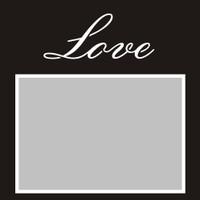 Love - 6x6 Overlay