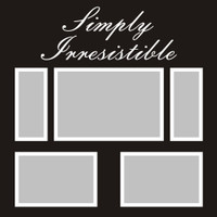 Simply Irresistible - 12x12 Overlay