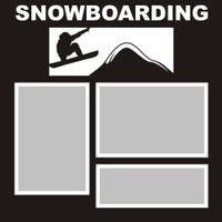 Snowboarding- 12x12 Overlay