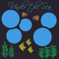 Under the Sea - 12x12 Overlay