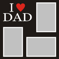 I Heart Dad  - 12x12 Overlay