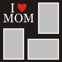 I Heart Mom  - 12x12 Overlay