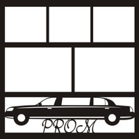 Limo with Prom text - 12x12 Overlay