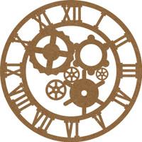 Clock with Gears Inside Chipboard Embellishment