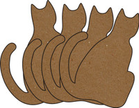 Cats Chipboard Embellishments - Pack of 4