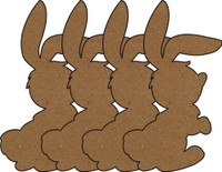 Rabbits Chipboard Embellishments - Pack of 4