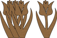 Tulips 4 Pack - Chipboard Shapes