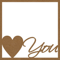 Heart You with Frame  - Chpd Embellishment