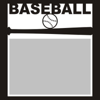 Baseball with Bat and Ball - 6x6 Overlay