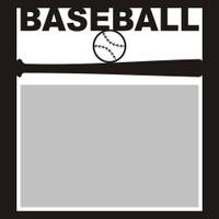 Baseball with Bat and Ball - 6x6 Overlay