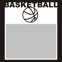 Basketball with Ball - 6x6 Overlay