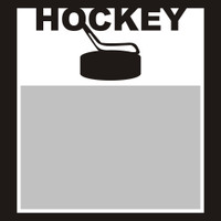 Hockey with Puck and Stick - 6x6 Overlay