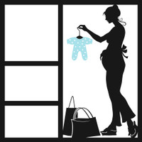 Babies first Outfit - Blue- 12x12 Overlay