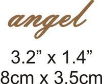 Angel - Beautiful Script Chipboard Word