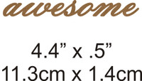 Awesome - Beautiful Script Chipboard Word