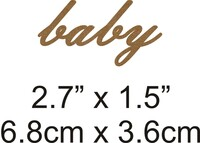 Baby - Beautiful Script Chipboard Word