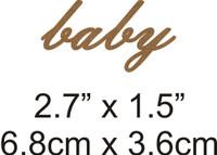 Baby - Beautiful Script Chipboard Word
