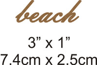 Beach - Beautiful Script Chipboard Word