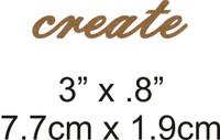 Create - Beautiful Script Chipboard Word