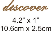 Discover - Beautiful Script Chipboard Word