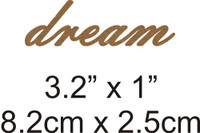 Dream - Beautiful Script Chipboard Word