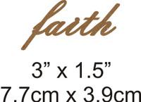 Faith - Beautiful Script Chipboard Word