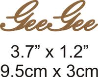 GeeGee - Beautiful Script Chipboard Word