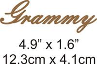 Grammy - Beautiful Script Chipboard Word