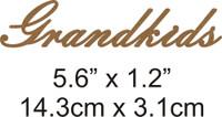 Grandkids - Beautiful Script Chipboard Word